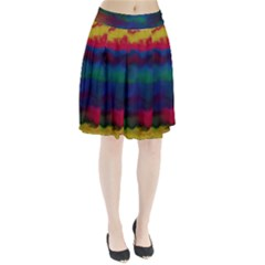 Watercolour Color Background Pleated Skirt