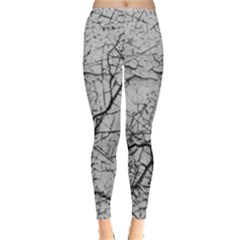 Abstract Background Texture Grey Leggings