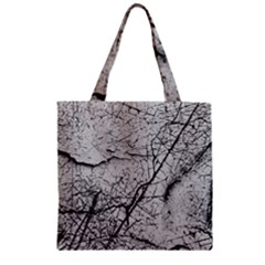 Abstract Background Texture Grey Zipper Grocery Tote Bag