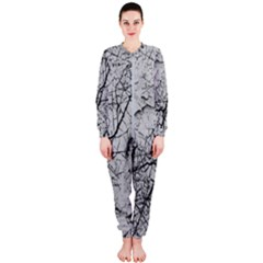 Abstract Background Texture Grey Onepiece Jumpsuit (ladies)