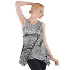 Abstract Background Texture Grey Side Drop Tank Tunic
