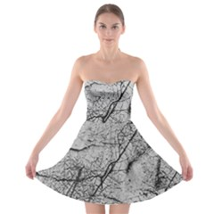 Abstract Background Texture Grey Strapless Bra Top Dress
