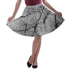 Abstract Background Texture Grey A Line Skater Skirt