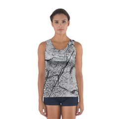 Abstract Background Texture Grey Sport Tank Top