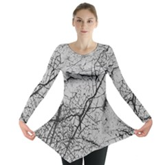 Abstract Background Texture Grey Long Sleeve Tunic