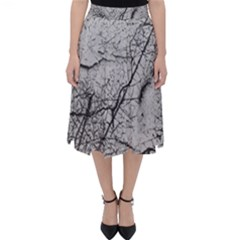 Abstract Background Texture Grey Folding Skater Skirt