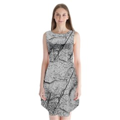 Abstract Background Texture Grey Sleeveless Chiffon Dress