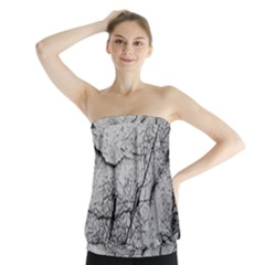 Abstract Background Texture Grey Strapless Top