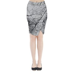 Abstract Background Texture Grey Midi Wrap Pencil Skirt