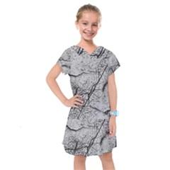 Abstract Background Texture Grey Kids  Drop Waist Dress