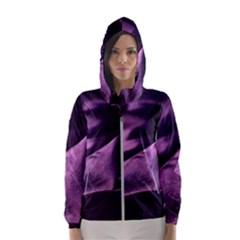 Shiny Purple Silk Royalty Hooded Wind Breaker (women)
