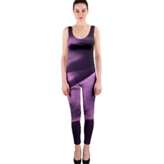 Shiny Purple Silk Royalty Onepiece Catsuit