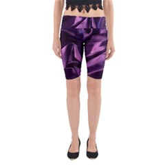 Shiny Purple Silk Royalty Yoga Cropped Leggings