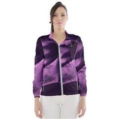 Shiny Purple Silk Royalty Wind Breaker (women)