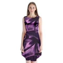 Shiny Purple Silk Royalty Sleeveless Chiffon Dress