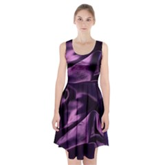 Shiny Purple Silk Royalty Racerback Midi Dress