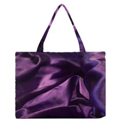 Shiny Purple Silk Royalty Zipper Medium Tote Bag