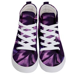 Shiny Purple Silk Royalty Kid s Hi Top Skate Sneakers