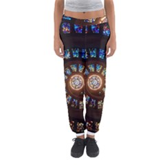 Stained Glass Spiral Circle Pattern Women s Jogger Sweatpants