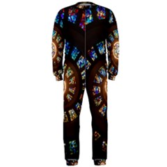 Stained Glass Spiral Circle Pattern Onepiece Jumpsuit (men)