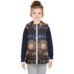 Stained Glass Spiral Circle Pattern Kid s Puffer Vest