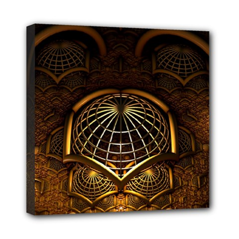 Fractal 3d Render Design Backdrop Mini Canvas 8  X 8