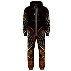 Fractal 3d Render Design Backdrop Hooded Jumpsuit (men)