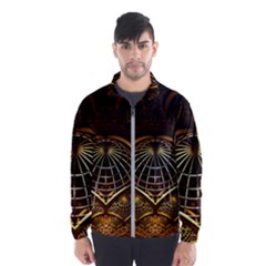 Fractal 3d Render Design Backdrop Wind Breaker (men)