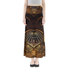 Fractal 3d Render Design Backdrop Full Length Maxi Skirt