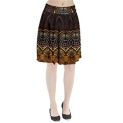 Fractal 3d Render Design Backdrop Pleated Skirt