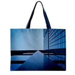 Architecture Modern Building Facade Zipper Mini Tote Bag