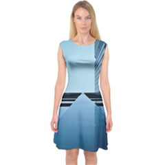 Architecture Modern Building Facade Capsleeve Midi Dress