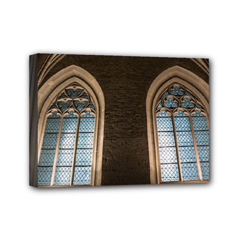 Church Window Church Mini Canvas 7  X 5