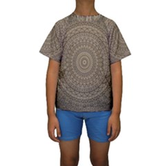 Background Mandala Kids  Short Sleeve Swimwear
