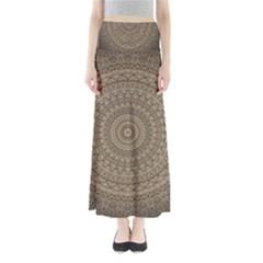 Background Mandala Full Length Maxi Skirt