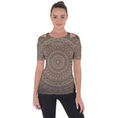 Background Mandala Short Sleeve Top