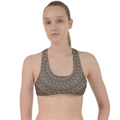Background Mandala Criss Cross Racerback Sports Bra