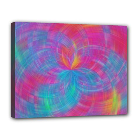 Abstract Fantastic Fractal Gradient Canvas 14  X 11