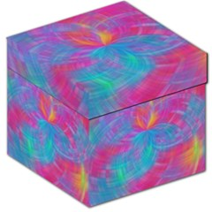 Abstract Fantastic Fractal Gradient Storage Stool 12