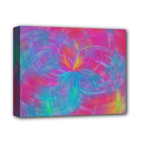 Abstract Fantastic Fractal Gradient Deluxe Canvas 14  X 11