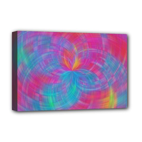 Abstract Fantastic Fractal Gradient Deluxe Canvas 18  X 12