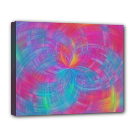 Abstract Fantastic Fractal Gradient Deluxe Canvas 20  X 16
