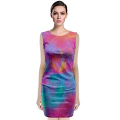 Abstract Fantastic Fractal Gradient Classic Sleeveless Midi Dress