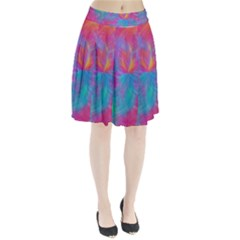 Abstract Fantastic Fractal Gradient Pleated Skirt