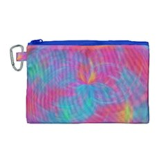 Abstract Fantastic Fractal Gradient Canvas Cosmetic Bag (large)