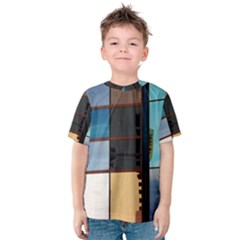 Glass Facade Colorful Architecture Kids  Cotton Tee