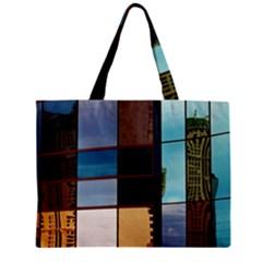 Glass Facade Colorful Architecture Zipper Mini Tote Bag