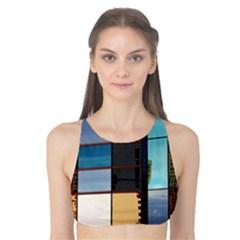 Glass Facade Colorful Architecture Tank Bikini Top