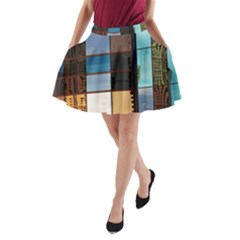 Glass Facade Colorful Architecture A Line Pocket Skirt