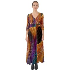 Graphics Imagination The Background Button Up Boho Maxi Dress